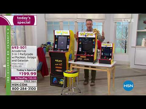Arcade1Up 3in1 Partycade With PacMan, Galaga And Galaxian