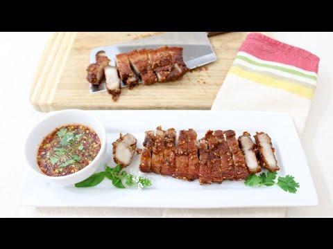 Thai Style Pork Belly หมูสามชั้นทอดน้ำปลา – Episode 121