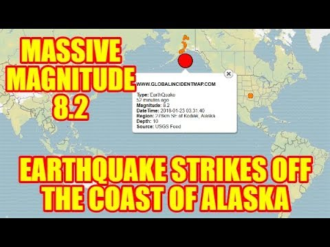 PLANET X NEWS - 8.2-magnitude Earthquake off Alaska Coast