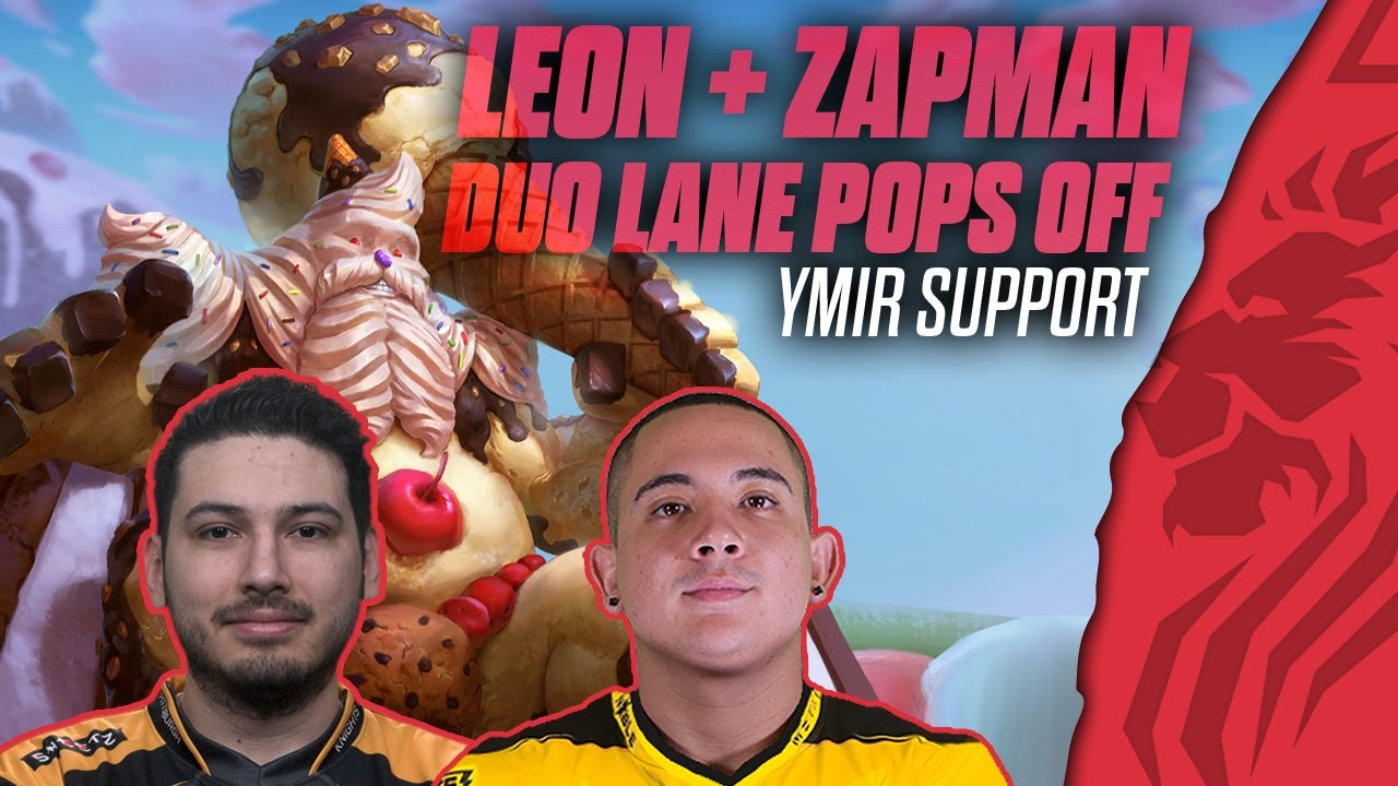 LEON AND ZAPMAN DUO LANE POPS OFF! YMIR SUPPORT - SMITE GRANDMASTERS RANKED