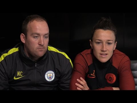 Manchester City Women's Press Conference Ahead Of Champions League Semi-Final Against Lyon