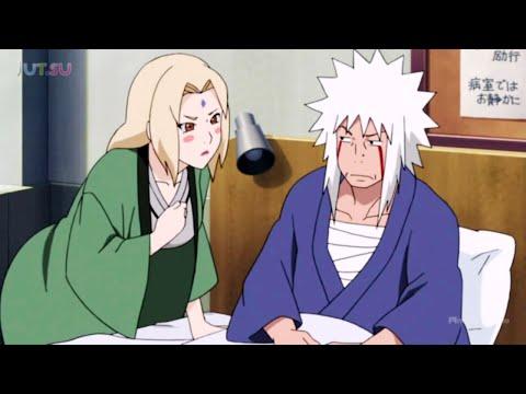Цунаде навещает раненого Джирайю и очень беспокоится о нем