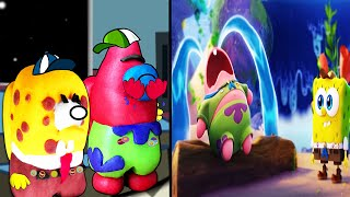 Baby Patrick Star Crying SpongeBob 3D In Among Us Animation