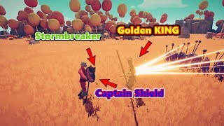 Captain America Vs. Golden King || Totally Accurate Battle Simulator (TABS)