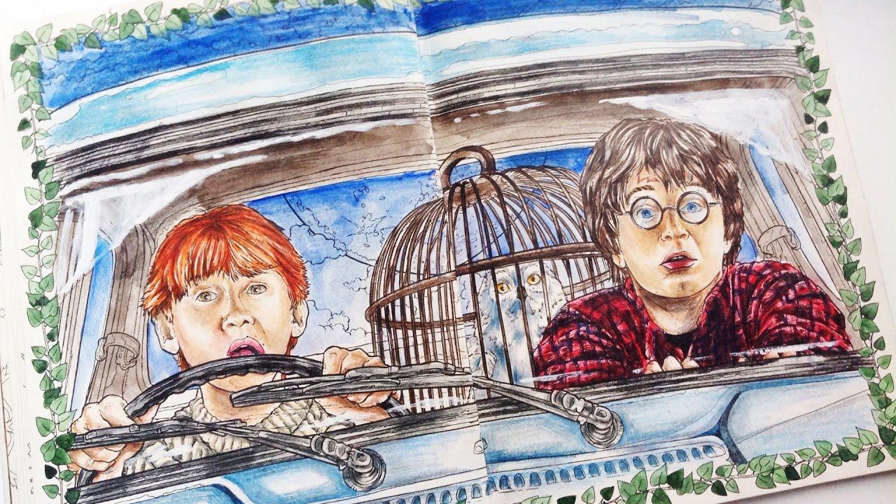 Гарри Поттер: Волшебная Раскраска // Неделя Раскрасок ...