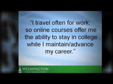 A Few Quotes from Online Learning Students at Wilmington University