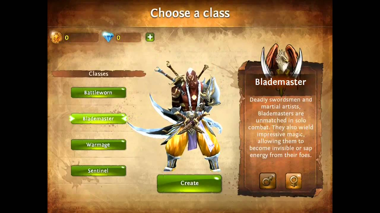 Dungeon hunter 4 characters first look youtube