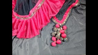make colorful latkan with fabric for party wear designer saree | blouse | lehenga | dresses