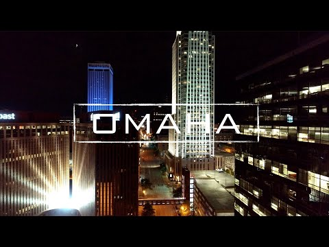 Omaha By Night | 4K Drone Video