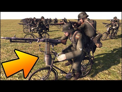 100 BICYCLES vs 100 JEEPS - MISSION IMPOSSIBLE - Men of War Assault Squad 2 - Editor Scenario #100