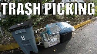 Trash Picking for FREE TREASURE LEFT FOR GARBAGE - Trash Picking Ep. 91