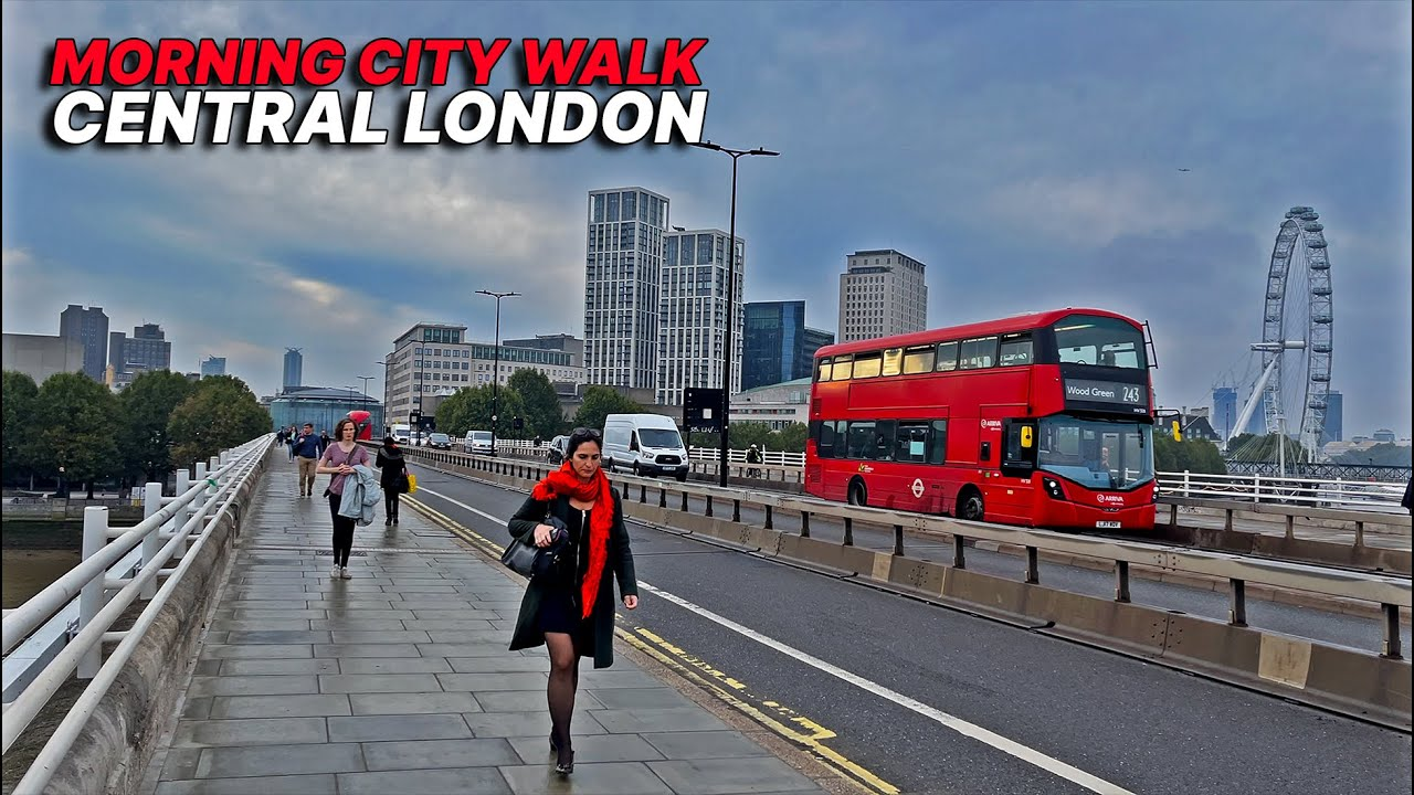 Download 8:00 AM 🌅 Walking in Central London from Russell Sq passing Sicilian Ave, Holborn & Waterloo Bridge