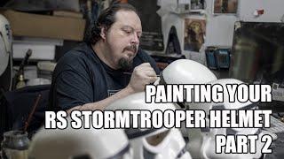 Stormtrooper Helmet Paint Tutorial - Part 2 - RS Prop Masters