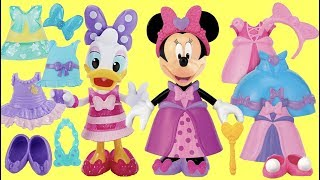 Minnie Mouse Daisy Duck Mix and Match Fashion Change Toy Surprise Shopping