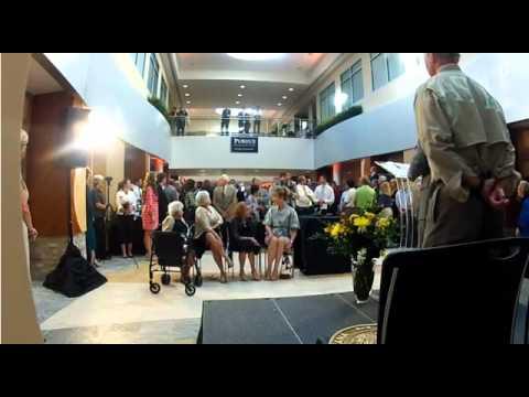 "Flash mob sings ""Hail Purdue"" Provided by PurdueResearchPark"
