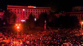 Как сносили памятник Ленину в Днепропетровске
