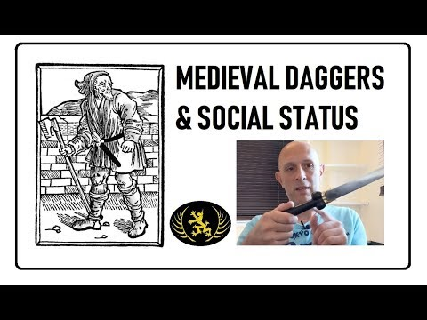 Medieval Daggers And Knives Related To Social Status