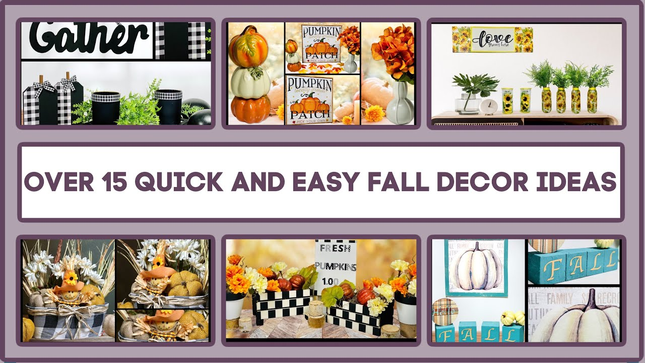 Over 15 Fall Farmhouse Dollar Tree DIY Decor Craft Ideas 2020 | Farmhouse, Rustic, High End And More