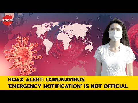 Hoax Alert: Coronavirus 'Emergency Notification' Is Not Official