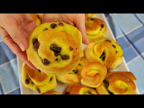 BRIOCHES GIRELLE DANESI ALLA CREMA - Danish Pastry Rolls With Custard Easy Recipe