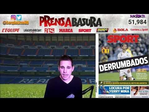 ASÍ REACCIONA LA #PRENSABASURA AL HUNDIMIENTO DEL REAL MADRID 0-1 VILLARREAL