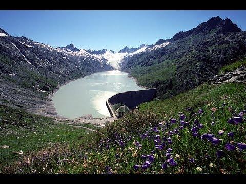 Der Oberaargletscher im östlichen Teil der Berner Alpen Der Schweiz
