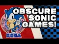 10 Most Obscure Sonic Games!