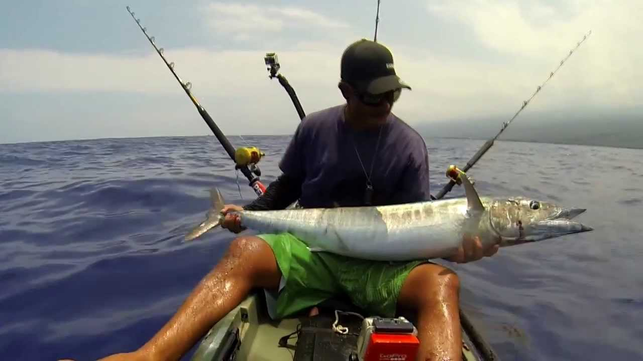 Extreme kayak fishing hawaii reel tripz 6 youtube for Kayak fishing hawaii