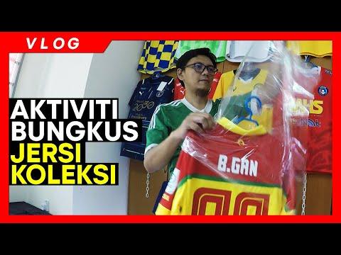 Download VLOG JERSI   Aku bungkus jersi koleksi Liga Malaysia dengan plastik