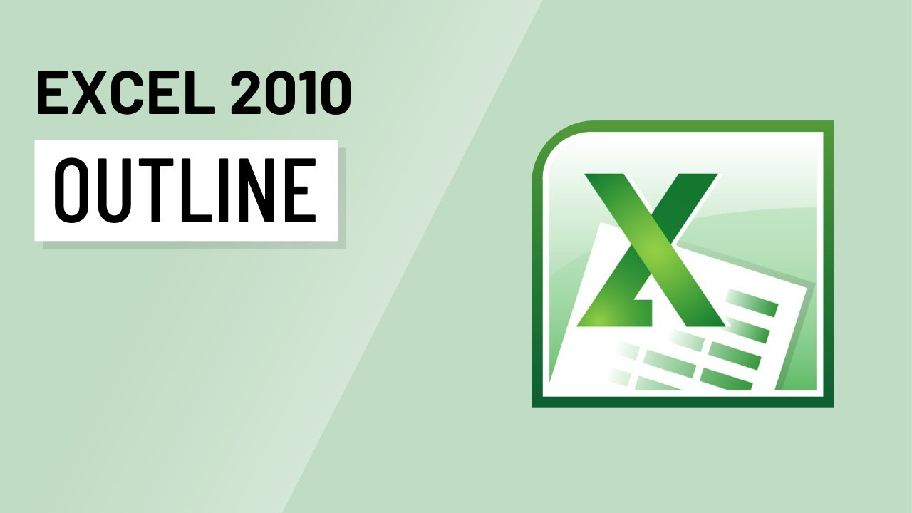 Excel 2010 Outlining Youtube