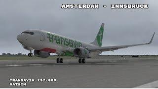 X-Plane 11 | Amsterdam-Innsbruck | Transavia 6609 | Zibo 737!