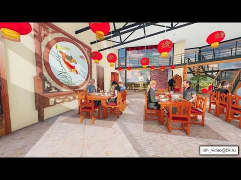 Интерьер ресторана в отеле /Архитектурная 3d визуализация/3d дизайн интерьера /3d дизайн ландшафта