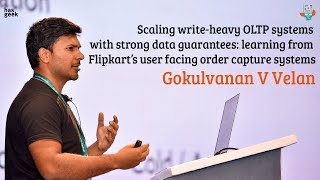 Scaling write-heavy OLTP systems with strong data guarantees: learning from Flipkart's user facing order capture systems