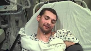 Ryan Coming Out Of His Anesthesia...After A Dislocated Shoulder!!