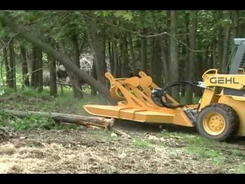 Bushmaster Skid Steer Brush Mower And Tree Cutter