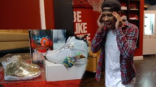 VERY RARE ALL GOLD JORDAN 6'S!! I GOT SUM HEAAATTTT!!! VLOG