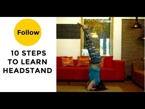 headstand shirshasana 10 steps video explained with text