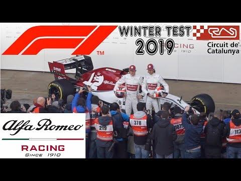 Alfa Romeo Racing Unveiling F1 Car | Test Day 1 Barcelona
