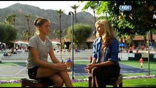 Samantha Steele interview with Northwestern tennis star Maria Mosolova