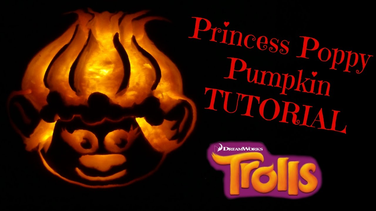 HOW TO CARVE PUMPKINS MAKE PRINCESS POPPY TROLLS - YouTube
