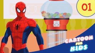 Funny cartoons for children #spiderman #frozen elsa Finger Family Song Nursery Rhymes