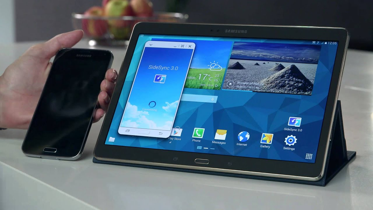 Samsung Galaxy Tab S How To Side Sync Youtube