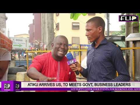 ATIKU ARRIVES US,  MEETS GOVT, BUSINESS LEADERS
