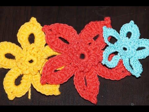 Вязание крючком. Схема цветка