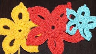 Вязание крючком. Схема цветка 4 ////  Crochet. Scheme 4 flower(Вязание крючком для начинающих. Схема цветка № 4 Видео подготовлено специально для сайта http://hobby-rukodelie.ru/..., 2014-11-01T05:55:10.000Z)