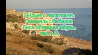 В Крым с палатками. Генералы. Рыбалка. Лиса обгадила обувь. Часть 3