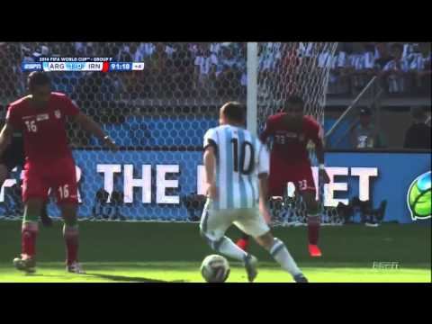 Messi Goal vs Iran - World Cup 2014 - Argentina 1 - 0 Iran