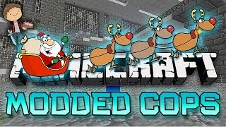 Minecraft: Modded Cops n' Robbers! w/Mitch & Friends - Christmas Mod!