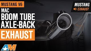 2005-2010 Mustang V6 MAC Boom Tube Axle-Back Exhaust Sound Clip & Install