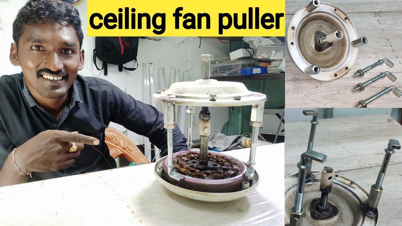 ceiling fan puller, how to open winding core